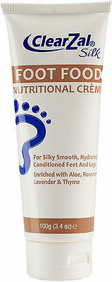 Silk Foot Food Moisturising Cream with Aloe Vera, Urea, Vit E 100g by ClearZal