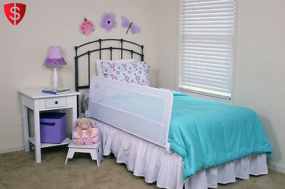 Kids Bed Rail Child Safety Swing Down Extra Long Bedrail Toddler Hide Away Crib