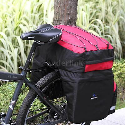 ROSWHEEL 60L Bicycle Bag Bike Double Side Rear Rack Tail Seat Trunk Bag TO M5I6