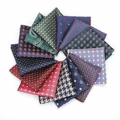 Men's Fashion Paisley Dots Pocket Square Handkerchief Wedding Party Hanky FT137
