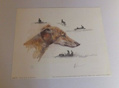 Lurchers & Hares by Mick Cawston Limited Edition print 367/500