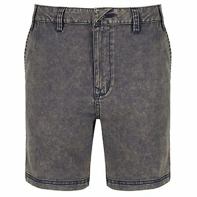 Passenger All Occasions Chino Shorts Navy Acid Wash
