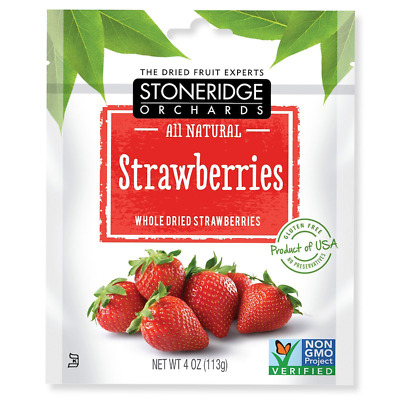 Stoneridge Orchards Strawberries Whole Dried Fruit Gluten Free All Natural