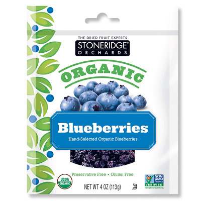 New Stoneridge Orchards Blueberries Whole Dried Fruit Gluten Free All Natural