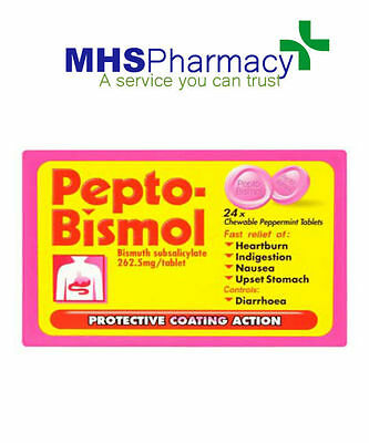 Pepto Bismol 24 Chewable Peppermint Tablets