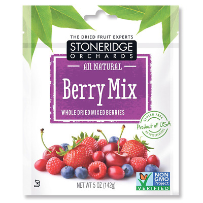 New Stoneridge Orchards Berries Mix Whole Dried Fruit Gluten Free All Natural