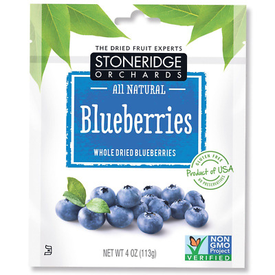 New Stoneridge Orchards Blueberries Whole Dried Fruit Gluten Free Daily Natural