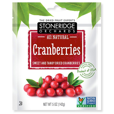 New Stoneridge Orchards Cranberries Sweet & Tangy Dried Fruit Gluten Free Daily