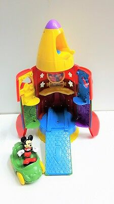 Fisher Price Disney Mickey Mouse Space Rocket ***PRE-OWNED***