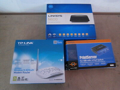 NEW Linksys TP-Link Print Server Router Access Point Wifi N600 PSUS4 TD-W8951ND