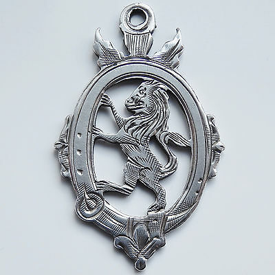 Rare William Hair Haseler Sterling Silver Scottish Lion Rampant Fob Medal c1921