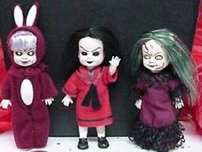 Living Dead Dolls mini doll set Japan Exclusive- RARE Eggzorcist-Sadie-Posey