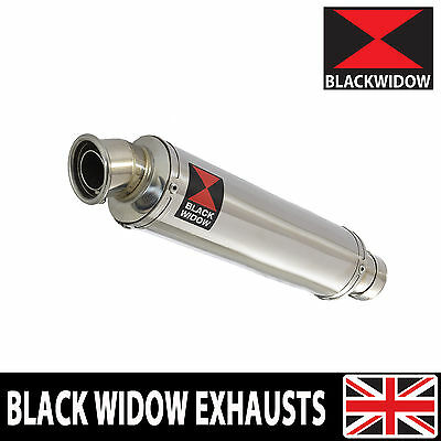 Black Widow Stainless Steel Exhaust Silencer End Can 350Mm Round Slip On Sn35R