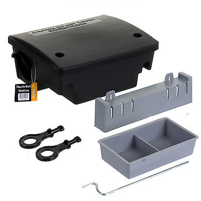 Professional Rat Killer Bait Station Box Trap Mouse Mice Poison Blocks Rodent