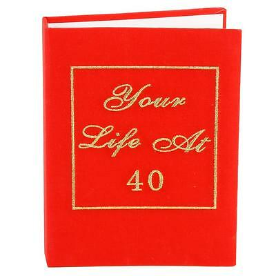 """Red Book Photo Album """"Your Life At 40"""" - 40th Birthday Gift"""