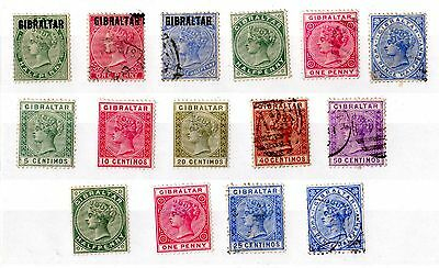 Gibraltar QV Unchecked Collection of 15 Mint/VFU X4977
