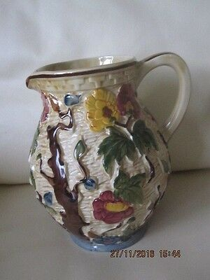 Vintage H J Wood Indian Tree Design Large Jug - Hand Painted