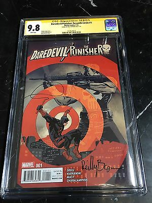 Netflix Daredevil Punisher Seventh Circle #1 CGC SS 9.8 Signed by Reily Brown
