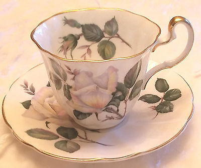 "Vintage Adderley ""Pour Toi"" cup and saucer. White Roses"