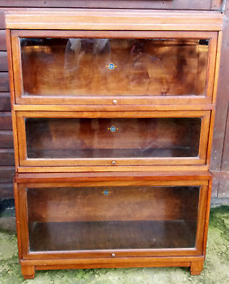 Mahogany Globe Wernicke Lawyers Bookcase With Glazed Compartments, circa 1930's