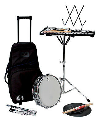 "CB Percussion 7106 Traveler 32-Note Bell Kit Xylophone Set with 14"" Snare Drum"