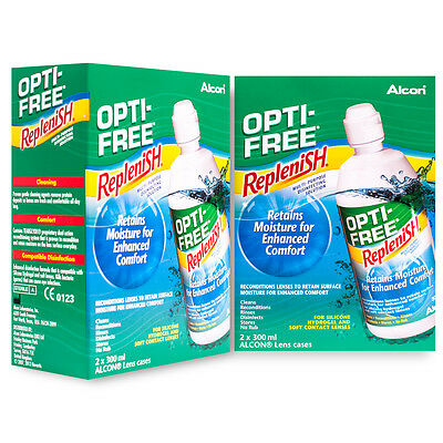 Opti-Free Replenish Contact Lens Solution 4x300ml 6 mths supply