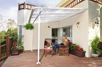 Patio Pergola  with Robust Structure for Year-Round Use - White 3 x 3.05m