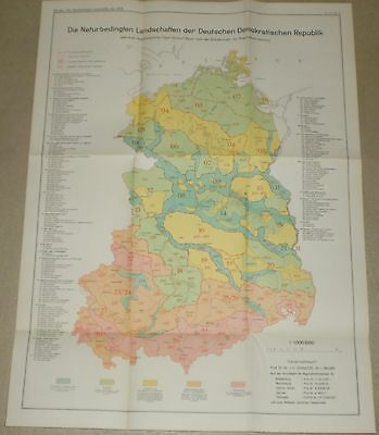 3 Maps of the Natural Landscapes of the German Democratic Republic - 1954 German