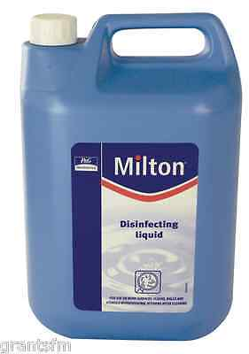1 x 5L Milton Sterilising Disinfectant Fluid Kitchen Baby Washroom