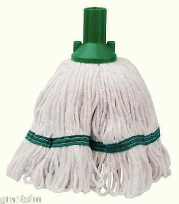 4 x Contico Exel Revolution Mop Head 250G Green bleached cotton yarn