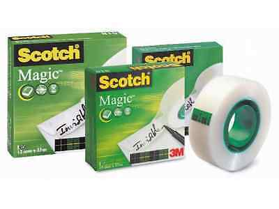 Scotch Magic Invisible Clear Writeable Sticky Tape Various Sizes