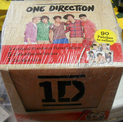 6 Box  Lot One Direction Patches Boxes Sealed 24 Packs In Each Box!+ 2 Card Box