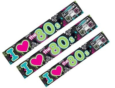 7.6M Totally 80S Theme Foil Wall Banner Hanging Decoration Birthday Party 80's