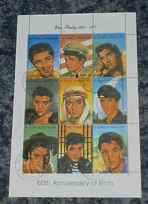 Elvis Presley - Stamp Sheet - (1)