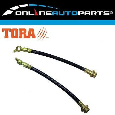 Front Left + Right Brake Line Hose Set fit Patrol GQ Y60 + Ford Maverick 1988-97