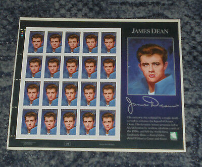 James Dean  - Stamp Sheet - (2)