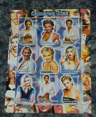 Cameron Diaz -Actress-   Stamp Sheet - (3)
