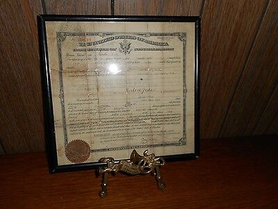 1917 Framed UNITED STATES CERTIFICATE OF NATURALIZATION ~ HUNGARY Citizen