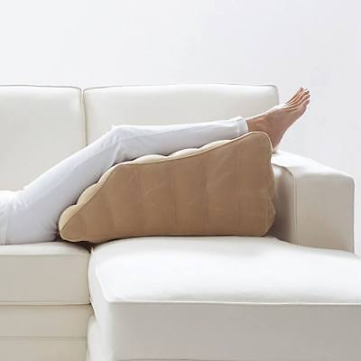 Inflatable Leg Rest Cushion Elevates Knees and Legs To Provide Optimal Support