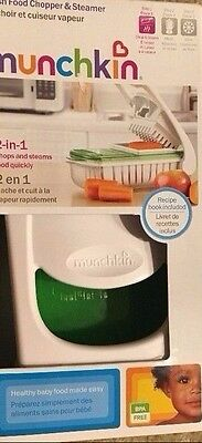 Fresh Kitchen Baby Infant Instant Microwavable Food Chopper And Steamer BPA Free