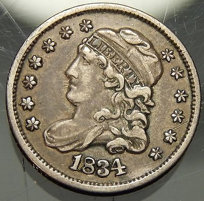 1834 Capped Bust Half Dime - XF !!