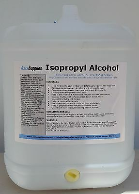 20L 100% Pure Isopropyl Alcohol Isopropanol Ipa Pcb Cleaner Isopro
