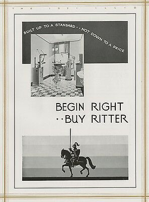 Ritter Dental Manufacturing Company Authentic 1931 Full-Page Pictorial Ad
