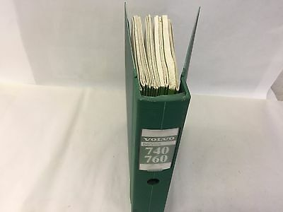 12+ Volvo 740 & 760 Service Manuals With Binder, Nice Clean Books, Nos?