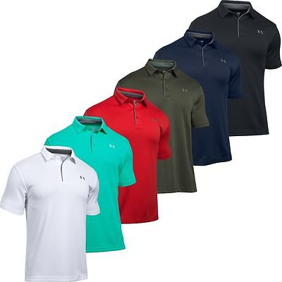 Under Armour UA 2017 Tech Polo HeatGear Performance Mens Golf Polo Shirt