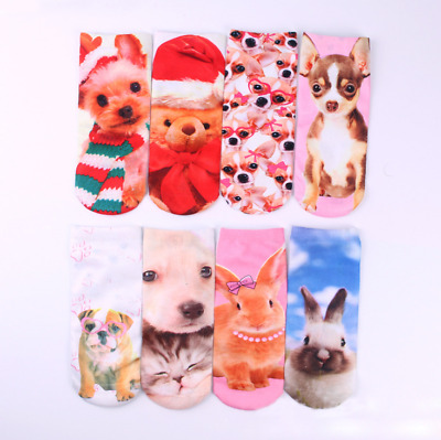 Hot ! New style Multiple Color 1 Pair 3D printed Low Animal Unicorn Ankle Socks