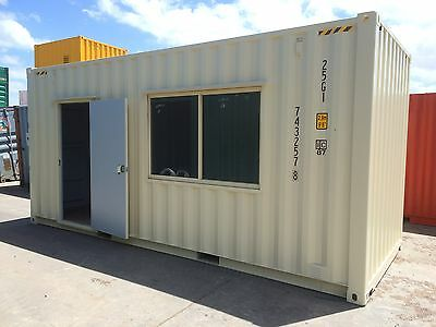 Work Shed – site office 20' High Cube New container portable storage shed
