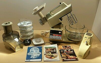 VINTAGE  Oster  Kitchen Center 16 Speed Electronic Touch Control  VGC + extras