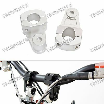 Silver 1-1/8'' Pivot CNC Handlebar Riser Clamp for BMW R1200GS HP2 S1000XR G450X