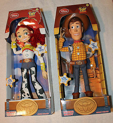 """Toy Story 16"""" Talking Pull String WOODY & JESSIE from Roundup Gang!"""